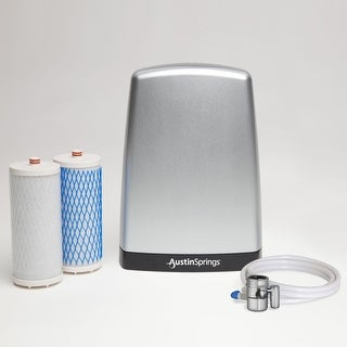 austin springs asdwctp countertop water filter silver