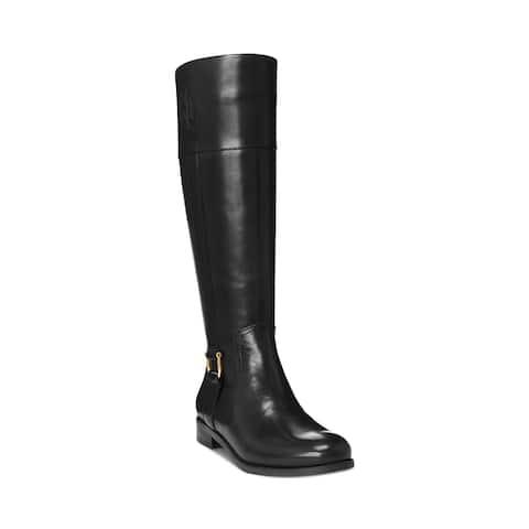 Lauren Ralph Lauren Women's Leather Bernadine Riding Boots Black