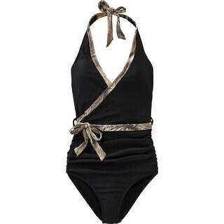 Legendary Whitetails Ladies Black Powder One Piece Swimsuit