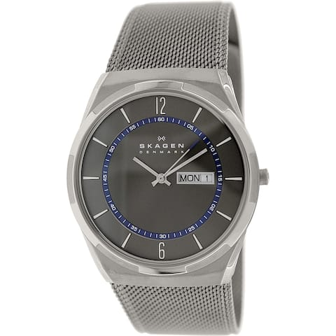 Skagen Men's Melbye Grey Stainless-Steel Quartz Dress Watch