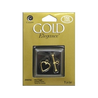 Cousin 14K Gold Plate Elegance Clasp Toggle Heart