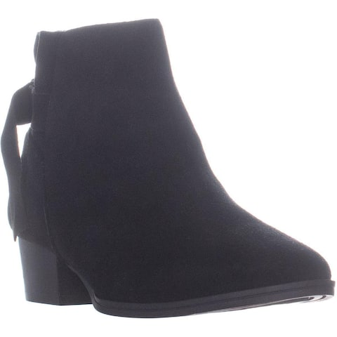 Aerosoles Crosswalk Comfort Ankle Boots, Black Suede