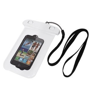 Unique Bargains Waterproof Bag Holder Pouch Case White for iPhone 4/4S w Neck Strap