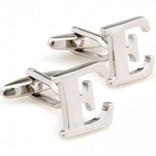 Letter E Alphabet Initial Cufflinks