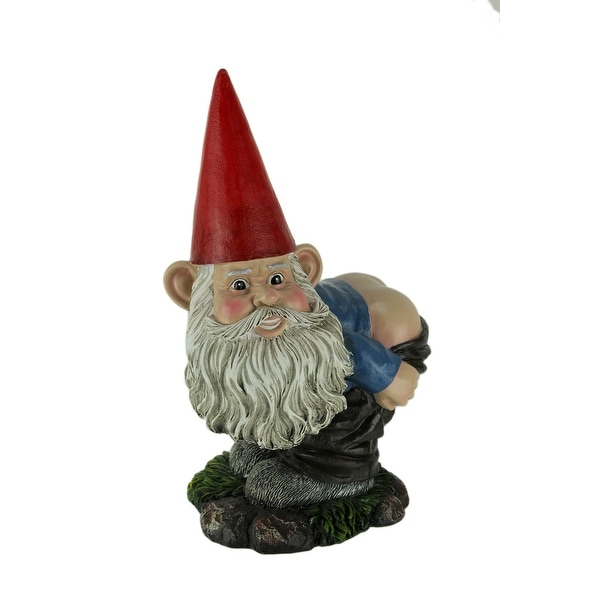 Cheeky the Naughty Mooning Gnome Bending Over Statue - 13.25 X 8 X 7 inches