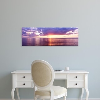 Easy Art Prints Panoramic Images's 'Sunset, Lake Superior, USA' Premium Canvas Art