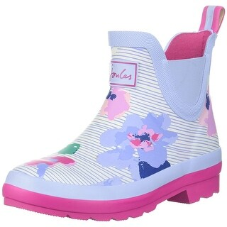 Kids Joules Girls Y_JNRWELLIBOB Ankle Pull On Rain Boots - pink floral/blue - 2.0 girls youth
