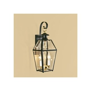 """Norwell Lighting 1066 Old Colony 2-Light 17"""" Tall Outdoor Wall Sconce with Clear Glass Shade - n/a"""