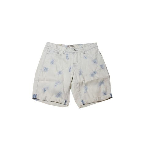 Vintage America Light Blue Boho Bermuda Shorts 2