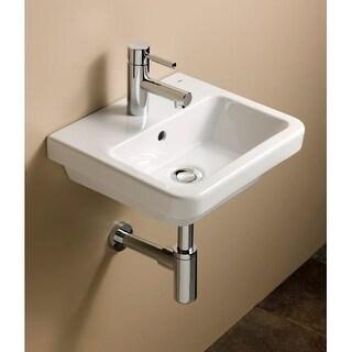 "Bissonnet 05050 Universal Street 15-3/4"" Wall Mounted Rear Drain Bathroom Sink w"