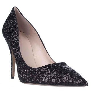 Kate Spade Licorice Pointed-Toe Dress Pumps - Black/Glitter
