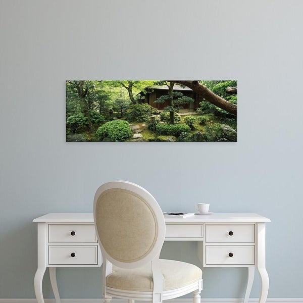Easy Art Prints Panoramic Images's 'Temple in a garden, Yuzen