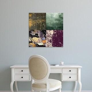 Easy Art Prints GraphINC's 'Tile Décor Green Notes' Premium Canvas Art