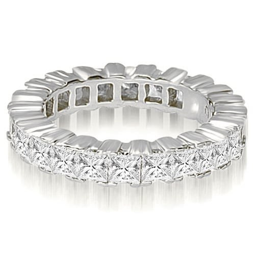5.00 cttw. 14K White Gold Princess Prong Diamond Eternity Ring