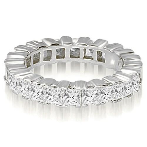 5.00 cttw. 14K White Gold Princess Prong Diamond Eternity Ring
