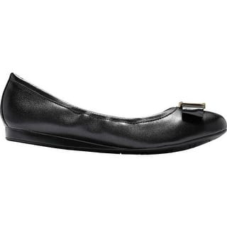 916a24d05ef Cole Haan Women s Emory Bow Ballet Flat Black Leather