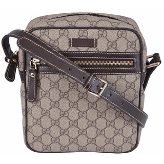 Gucci 233268 GG Supreme Coated Canvas Crossbody Messenger Bag