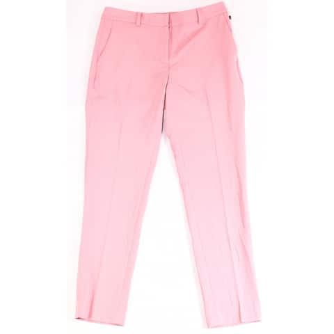 DKNY Women's Suit Pants Pink Size 10 Culotte Wide-Leg Stretch Essex