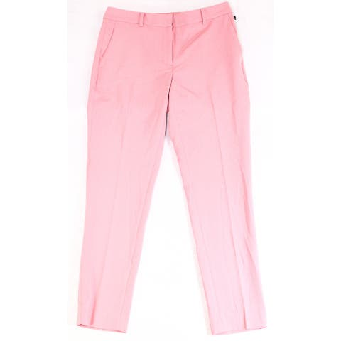 DKNY Women's Suit Pants Pink Size 12 Culotte Wide-Leg Stretch Essex