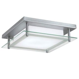 """Norwell Lighting 5642 Niveaux Single Light 12"""" Wide LED Flush Mount Ceiling Fixture with Shiny Opal Shade"""