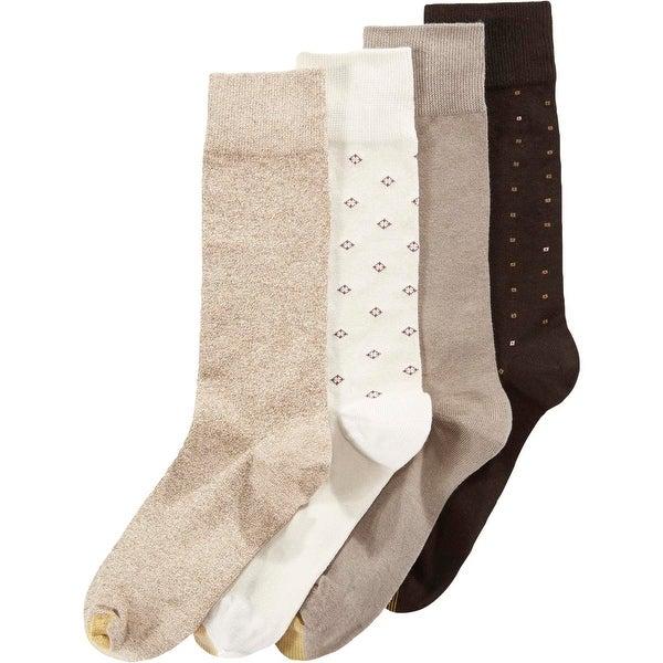 Gold Toe Mens Dress Socks Knit Ribbed Trim - 6-12.5