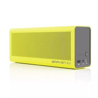 BRAVEN 805 Portable Wireless Bluetooth Speaker [18 Hour Playtime] Built-In 4400mAh Power Bank Charger