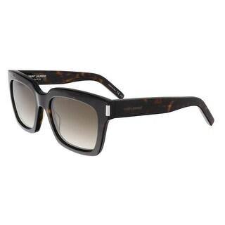 Saint Laurent SL BOLD 1-004 Dark Havana Square Sunglasses