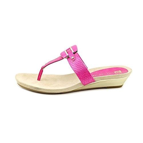 Anne Klein Women's Ita Mid Wedge Thong Sandals