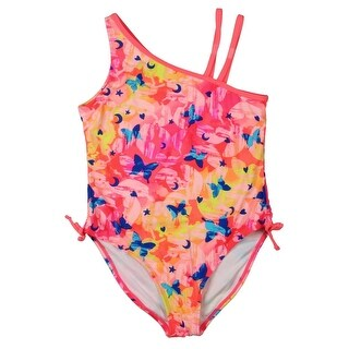 Attraco Girls Printed One-Piece Swimsuit - 14