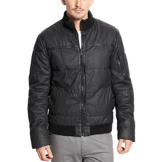 Rogue State Slim Fit Sherpa-Lined Bomber Jacket Large L Black Full Zip