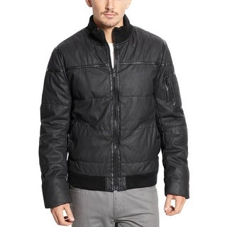 Rogue State Slim Fit Sherpa-Lined Bomber Jacket Small S Black Full Zip