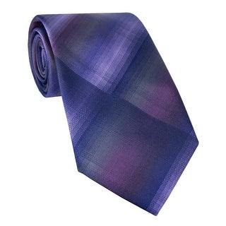 Kenneth Cole Reaction Coonhound Unsolid Classic Silk Tie Purple and Blue - One Size Fits most