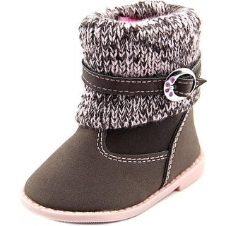 Rugged Bear 3-8 girls bootie Round Toe Canvas Winter Boot