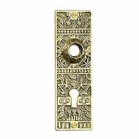 Door Back Plate Solid Brass Queen Anne 5 1/4 H | Renovator's Supply