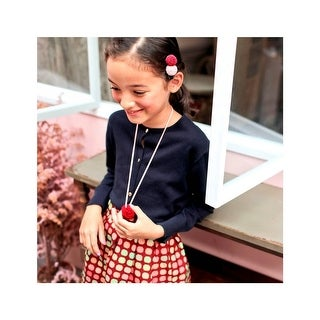 Girls Red Green Polka Dot Candy Cane Pleat-Accent A-Line Skirt