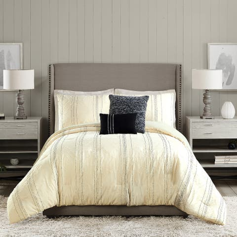Ayesha Curry Diamond Heights 5 Pieces Comforter Set