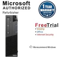 Lenovo ThinkCentre M83 Desktop Computer SFF Intel Core I5 4570 3.2G 16GB DDR3 1TB Windows 10 Pro 1 Year Warranty (Refurbished)
