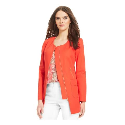 LAUNDRY Womens Coral Shelli Segal Zip Front Topper Jacket Size 10