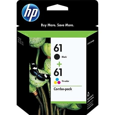 HP 61 Black and Tricolor Ink Cartridges CR259FN Combo 2/Pack - Multi-color