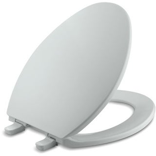 Kohler K-4774 Brevia Q2 Elongated Closed-Front Toilet Seat with Quick-Release and Quick-Attach Hinges