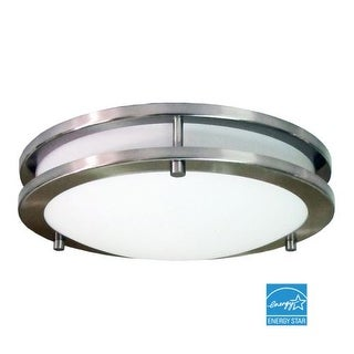 HomeSelects International 6100 Saturn 1 Light Energy Star Flush Mount Ceiling Fixture