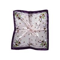K152 Ladies Dandelion Prints Square Shape Wrap Kerchief Purple Baby Pink