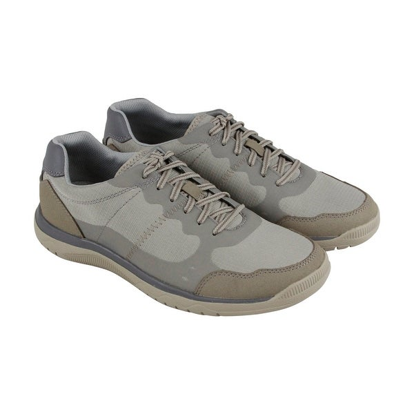 Clarks Votta Edge Mens Gray Synthetic Casual Dress Lace Up Oxfords Shoes