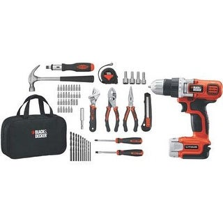 Stanley Black & Decker Ldx120pk 20V Max Lithium Ion Drill/Driver + 68 Piece Project Kit