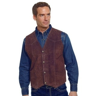 Cripple Creek Outerwear Vest Mens Quality Suede Button Front
