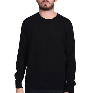 Valentino Men's Crew Neck Sweater Black