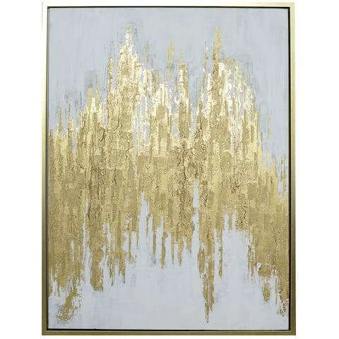 Harp & Finial Manhattan Bold Metallic Framed Canvas Art