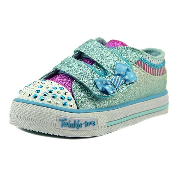 Twinkle Toes By Skechers S Lights-Shuffles-Bow Buddies Toddler Blue Sneakers