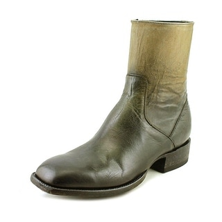 Lucchese Porter 2E Square Toe Leather Mid Calf Boot