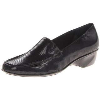 Walking Cradles Womens Terrace Patent Leather Textured Loafers - 5 medium (b,m)